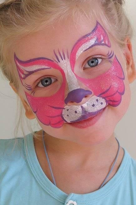 рисунки на лице фото детские
