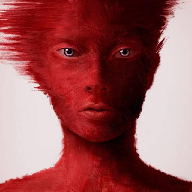 Надавила прыщи все лицо красное