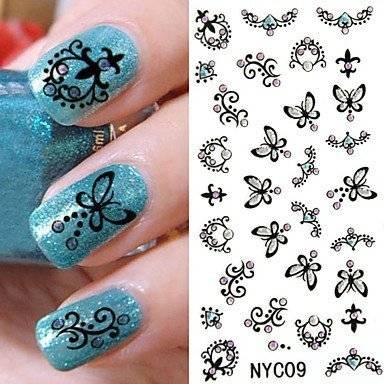 Трафареты для рисунков на ногтях своими руками