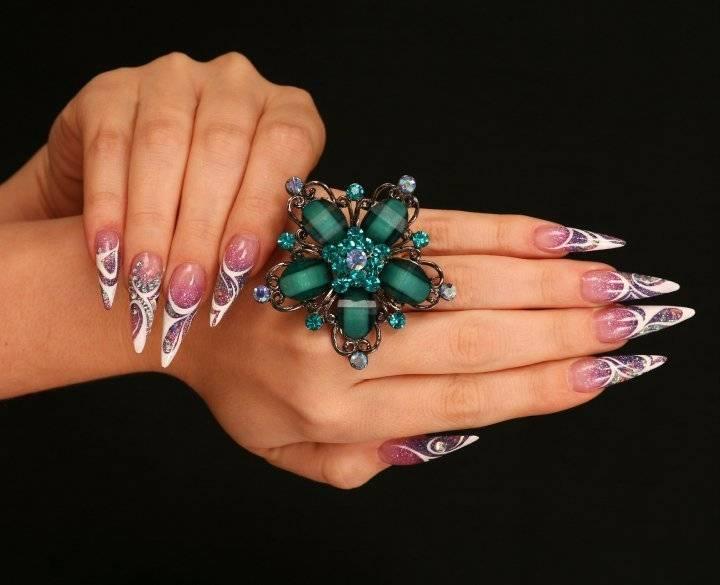 Яркий дизайн ногтей 2014