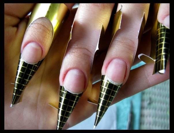 картинки острых ногтей нарощенных