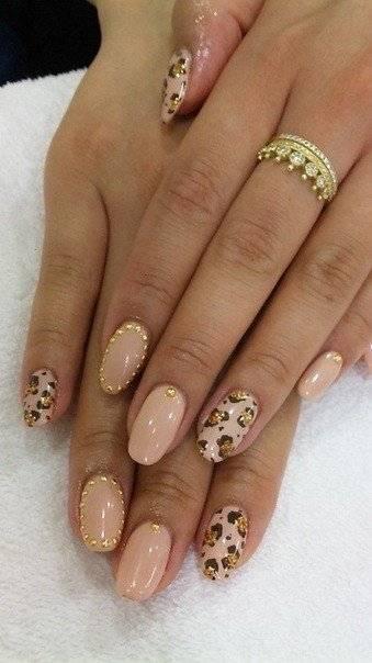 Фото дизайн ногтей леопард фото