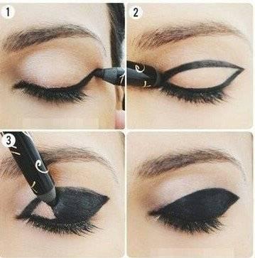 Как накрасить стрелки на глазах: макияж «Кошачьи глазки»