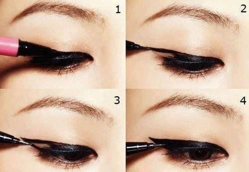Как нарисовать красивые стрелки для маленьких глаз