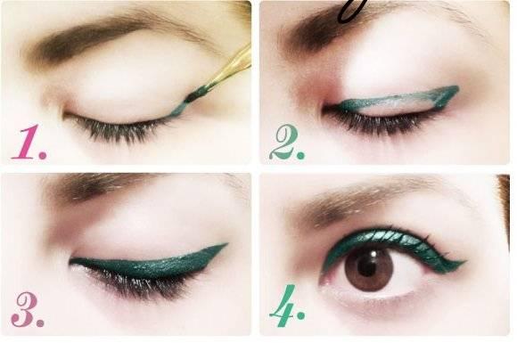 Как красить стрелки на глазах быстро