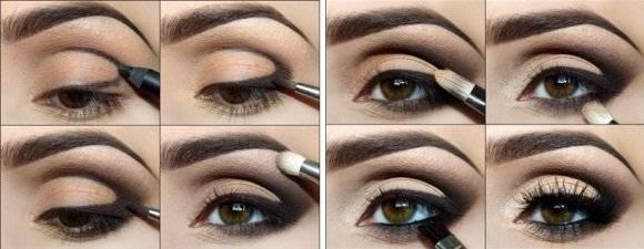 Повседневный макияж для карих глаз – пошаговая инструкция