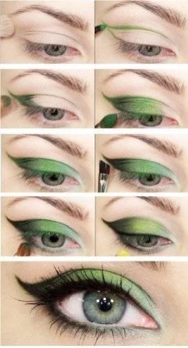 Повседневный макияж для зеленых глаз – пошаговая инструкция