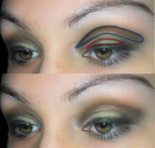 Новогодний макияж для зеленых глаз – удачная цветовая палитра