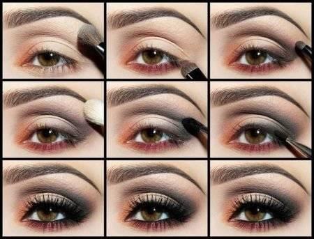 Новогодний макияж для карих глаз – удачная цветовая палитра