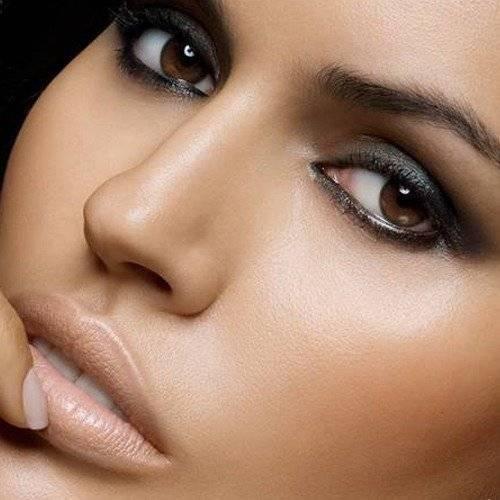 макияж для зеленых и карих глаз блондинок и брюнеток