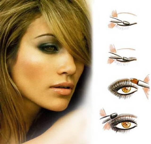 Дневной и вечерний макияж для карих глаз блондинок