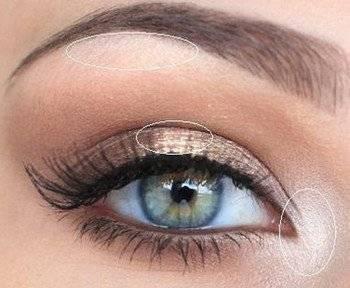 Эффектный дневной макияж для голубых глаз