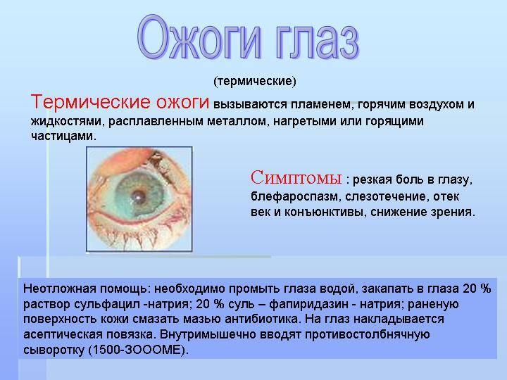Как оказать первую помощь при травмах глаз
