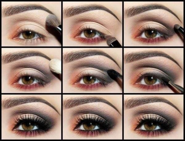 Правильный макияж для карие глаза