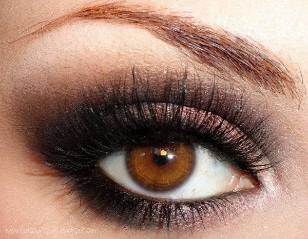 Уроки макияжа для карих глаз на вечер