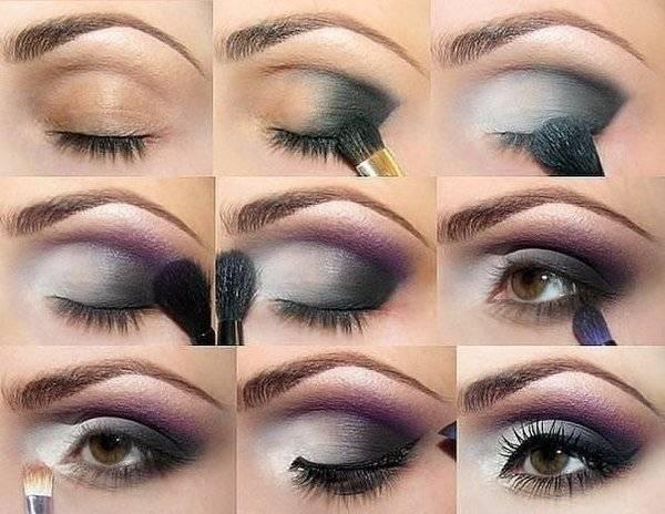 Дневной макияж для карих глаз поэтапно