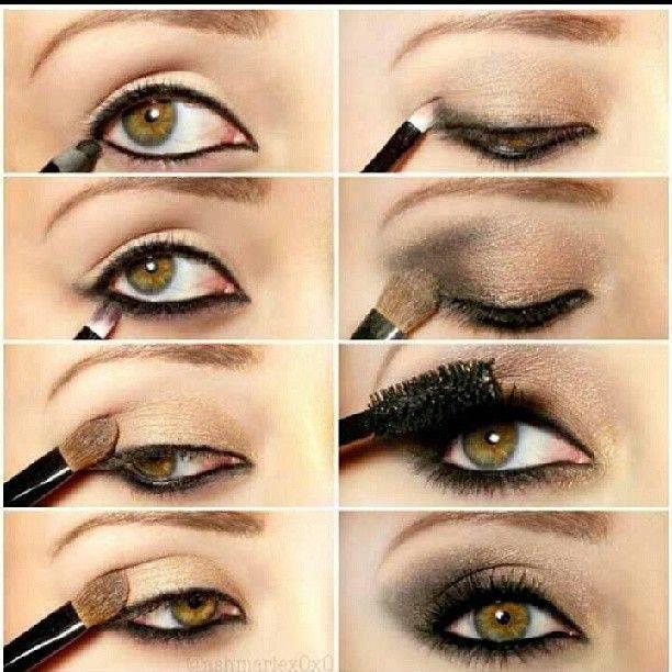 Как красить глаза зеленые и карие – вечерний макияж