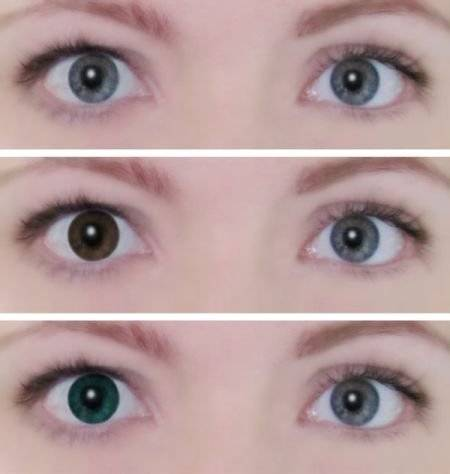 Линзы для глаз цветные