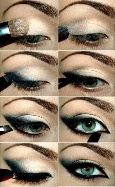 Как красиво красить глаза тенями, подводкой и тушью