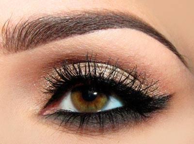 Как накрасить карие глаза – вечерний макияж