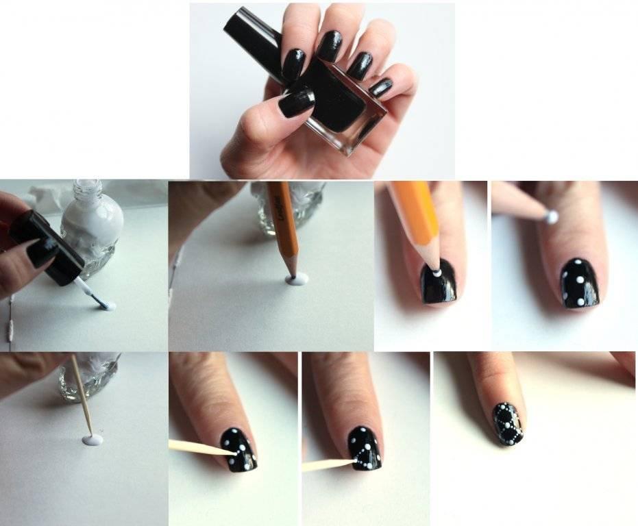 Накрасить ногти в домашних условиях пошагово