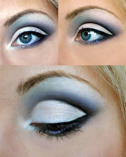 Макияж для голубых глаз, секреты и хитрости