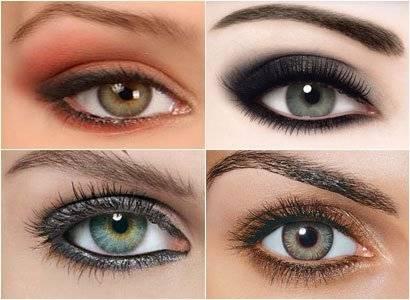 Макияж для серых глаз, техника выполнения